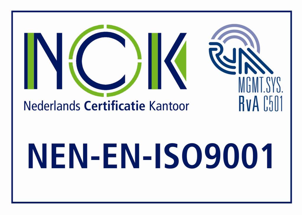 ISO9001 4KL Nederlands Certificatie Kantoor (NCK)